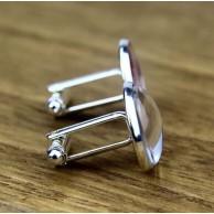 Harfli Gümüş Kaplama Kol Düğmesi
