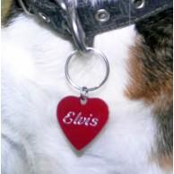 Kalp Şeklinde Pet Künye - Kedi veya Köpek İçin