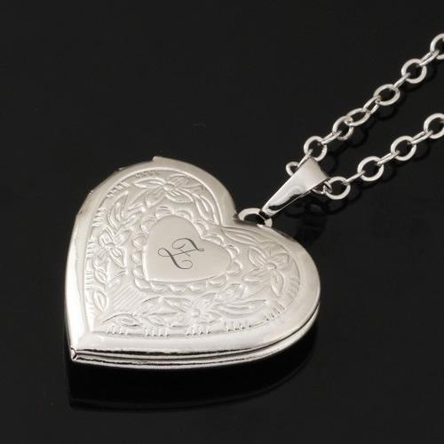 Kişiye Özel İçine Resim Konulabilen 925 Ayar Gümüş Kaplama Kalp Kolye