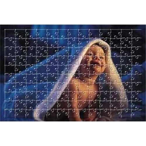 Resim Basılabilir 187 Parça Çerçeveli Büyük Boy Ayaklı Ahşap Dikdörtgen Puzzle