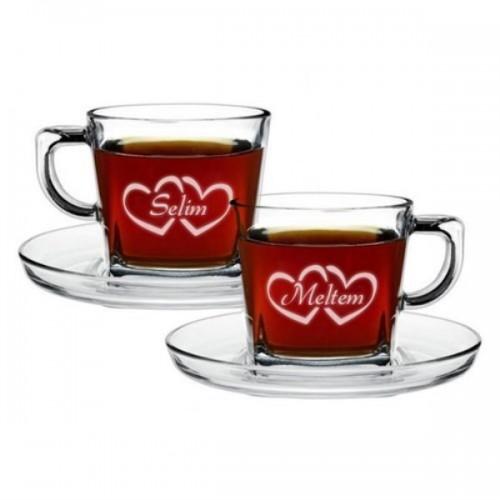 Aşıklara Özel 2'li Çay Fincanı