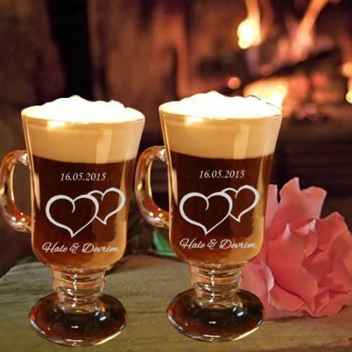 Kahve Bardağı, Çiflere Özel İsimli 2'li Irish Kahve Bardağı