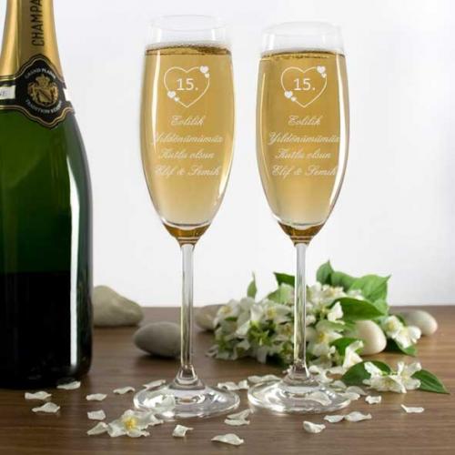 Yıl Dönümlerine Özel Şampanya Kadehi