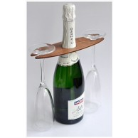 Çiftlere Özel Alyans Desenli Şampanya Bardağı