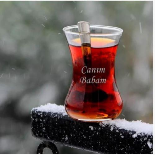 Kişiye Özel İnce Belli Paşabahçe Çay Bardağı Seti