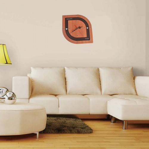 Kişiye ve İsme Özel Lazer Kesim Ahşap ve Pleksiden Oluşan Modern Tasarım Duvar Saati