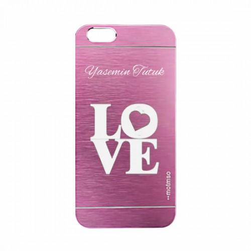 Kişiye Özel Love Sembollü Motomo Telefon Kılıfı