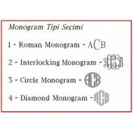 2 Harfli Monogram Yazılı Yuvarlak Objeli Gümüş Kaplama Kravat İğnesi